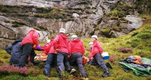 Mourne Mountain Rescue Team found the injured teenager on steep ground in Slieve Bearnagh. Photograph: Mourne Mountain Rescue Team