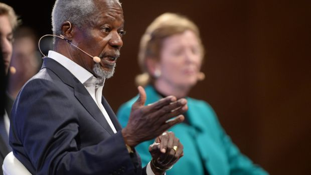 Kofi Annan: opposed and feared the consequences of invasion and occupation not just in Iraq but across the wider Middle East. Photograph: Dara Mac Dónaill