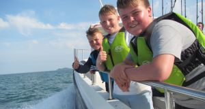 Sphere 17 Darndale Youth Group enjoy sea angling trip at Malahide.