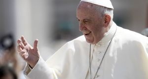 Pope Francis has issued a letter to the People of God.  Photograph: Filippo Montegorte/AFP/Getty Images