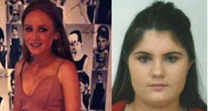 Hannah Hughes(left) and Janelle Quinn are missing and believed to be in Dublin.
