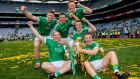 Limerick team members celebrate their victory in the GAA All-Ireland senior hurling final, Croke Park, Dublin. Photograph: ©INPHO/James Crombie