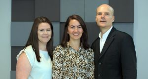 SepTec co-founders Elaine Spain, Kellie Adamson and Prof Robert Forster.