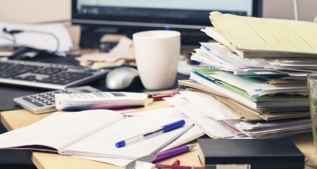 The US-based National Association of Professional Organisers says 80 per cent of office clutter is due to disorganisation not to lack of space