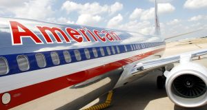 An  American Airlines jet has diverted to Shannon Airport. File photograph:  Mike Fuentes/Bloomberg News