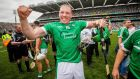 "Shane Dowling celebrates Limerick's win: ""I'm probably being biased here , but it's probably the greatest All-Ireland ever won. It has to be.""  Photograph: Ryan Byrne/Inpho"