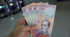 The new five and ten Bolivar Soberano (Sovereign Bolivar) bills. As it tries to curb hyperinflation - which, by some measurements, is the worst in Latin American history - the government is also slashing fuel subsidies and raising the minimum wage by 3,000 per cent.
