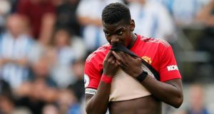 Paul Pogba's agent Mino Raiola has hit out at Paul Scholes on Twitter after the Manchester United great was critical of the Frenchman's performance against Brighton. Photograph: David Klein/Reuters