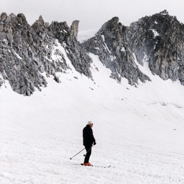 Sporty pope: John Paul II skiing in Italy in 1984. Photograph: Bettmann/Getty