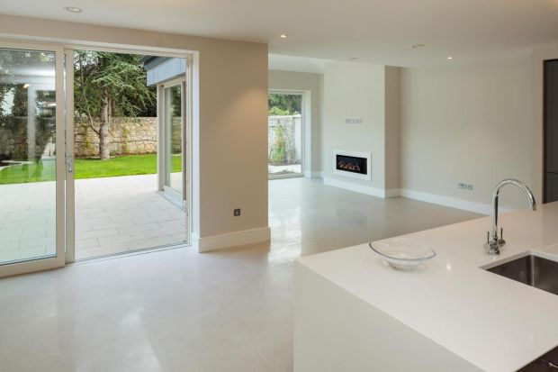 Interior showing clean lines and neutral colours on Glenart Avenue.