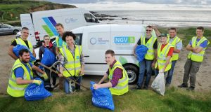 Volunteers at the National Coasts Big Beach Clean at Inch Beach, east Cork  Photograph: Daragh McSweeney/Provision