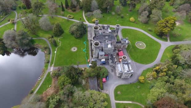 Drone view of Johnstown Castle