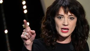 Asia Argento speaks on stage in May during the closing ceremony of the 71st edition of the Cannes Film Festival. Photograph: Alberto Pizzoli/AFP