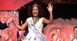 Waterford Rose Kirsten Mate Maher is crowned the 2018 International Rose of Tralee. Photograph:  Domnick Walsh