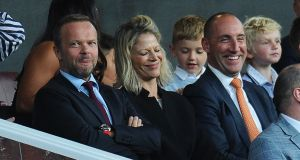 Chief executive of Manchester United Ed Woodward (left). Photograph: Peter Powell/EPA