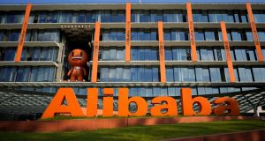 Alibaba's US-listed shares rose about 4 per cent in pre-market trade, as investors reacted positively to the better-than-expected revenue growth. File photograph: Aly Song/Reuters