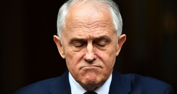 Australian prime minister Malcolm Turnbull: played hardball with his challengers, but seemingly in vain.  Photograph: Mick Tsikas/EPA
