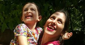Nazanin Zaghari-Ratcliffe with her daughter following her temporary release from an Iranian prison. Photograph:   Getty Images