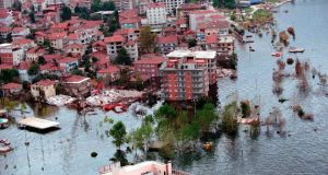 An earthquake and tsunami in Izmit, Turkey, in August 1999 left 17,500 people dead. Istanbul is bolstering its infrastructure in anticipation of a major quake which could come at any time. Photograph: Getty Images