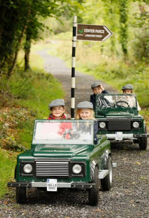 TEST DRIVE: Local children explore the Off-Road Explorer experience at the new Center Parcs in Co Longford, which will open next year. Photograph: Kieran Harnett