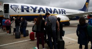 Ryanair has changed its baggage policy - again. Photograph:  Hannah McKay/Reuters