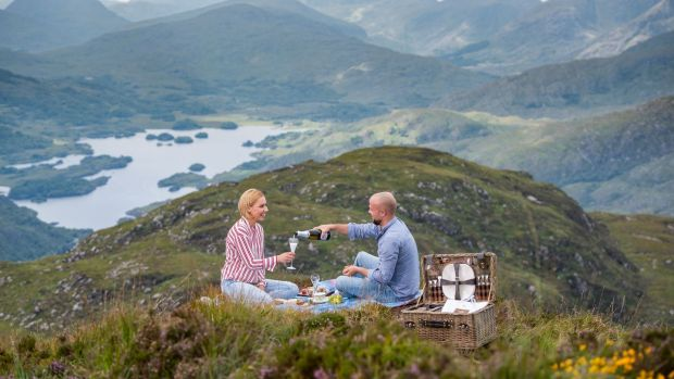 Picnic on top of a mountain in Killarney . . . for a cool €2,320 per person