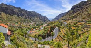 A panoramic view of Valle Gran Rey on  La Gomera. Photograph: Getty Images