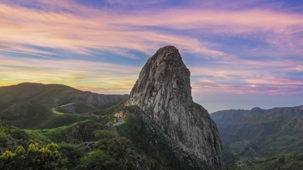 The striking Roque de Agando at sunrise. Photograph: Getty Images