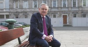 Labour Party leader Brendan Howlin at Leinster House, Dublin. Photograph: Gareth Chaney/Collins