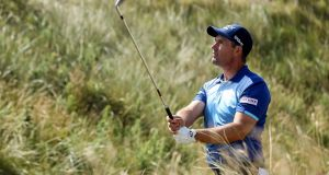 Padraig Harrington is just two shots off the lead at the Czech Masters.