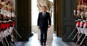 Predictions that French president Emmanuel Macron would back down when he reformed the labour code and the SNCF railway system proved false. Photograph: Charles Platiau/Reuters