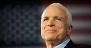 US senator John McCain had served the United States  for 60 years. Photograph: by Robyn Beck/AFP