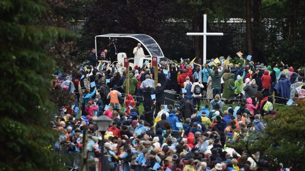 Pope Francis visits Knock shrine on Sunday. Photograph: Charles McQuillan/Getty Images
