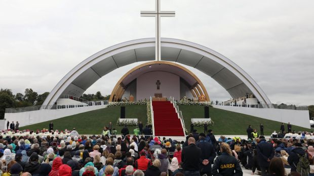 A general view of the World Meeting of Families closing mass in Phoenix Park, Dublin. Photograph: Hannah McKay/Reuters.