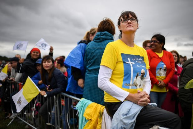 Members of the public attend the closing Mass at the World Meeting of Families with Pope Francis. Photograph: Jeff J Mitchell/Getty Images