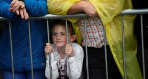 A child during the World Meeting of Families closing Mass in the Phoenix Park. Photograph: Clodagh Kilcoyne/Reuters