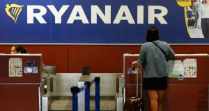 One of the main points of conflict was Ryanair. Photograph: Pau Barrena/AFP/Getty Images