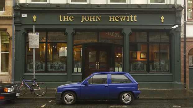 As Michael Longley once joked to me, naming a pub The John Hewitt is like naming a brothel The Mother Theresa. Photograph: David Sleator