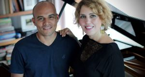Luis Magallanes with pianist and humanitarian Gabriella Montero.