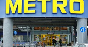 Metro shares rose as much as 18 per cent and closed 12.23 per cent ahead on Germany's mid-cap index on Monday. Photograph: Thilo Schmuelgen/Reuters