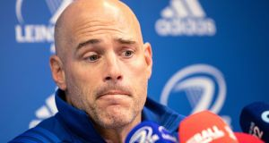 New Leinster backs coach Felipe Contepomi speaks at a press conference. Photo: Laszlo Geczo /Inpho