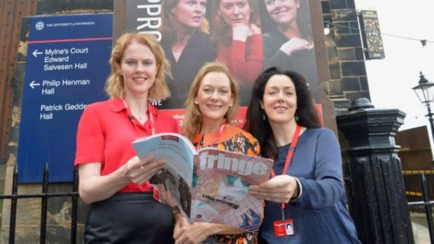 """Breathtaking performances"": Aisling O'Sullivan, Cathy Belton and Derbhle Crotty in Edinburgh, where they appeared in Mark O'Rowe's The Approach"