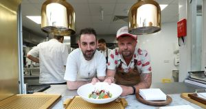 Too many chefs? Find out when Andy McFadden (left) and Robin Gill share the kitchen at Glovers Alley on Wednesday for a collaborative menu