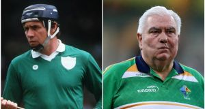 Leonard Enright (left) and Joe Kernan (right) have been inducted into the GAA Hall of Fame.