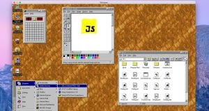 Released in 1995, Windows 95 introduced and features the taskbar and  the Start button to Microsoft operating systems.