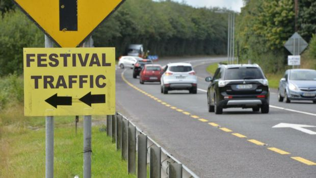 Electric Picnic: the festival provides free parking, but factor in plenty of time to get there by car. Photograph: Alan Betson