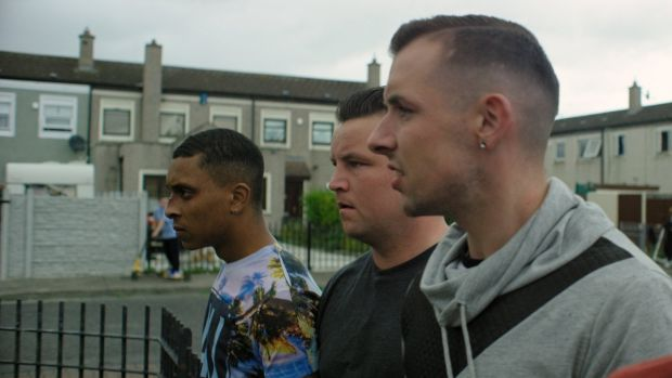 Connors (centre) in Cardboard Gangsters