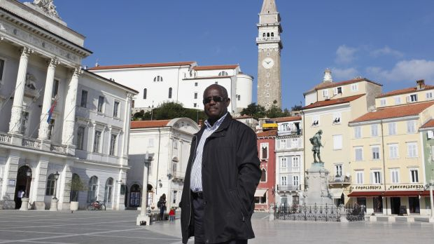 Mayor Peter Bossman in the Slovenian Adriatic town of Piran. Photograph: Stringer/AFP/Getty Images
