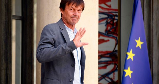 "Outgoing French minister for ecology Nicolas Hulot: ""I do not want to give the illusion that my presence in the government signifies we are up to the challenge."" Photograph: Bertrand Guay/AFP/Getty Images"