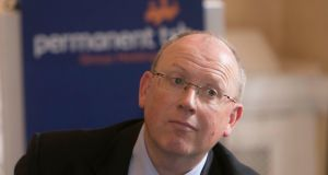 "Jeremy Masding, chief executive of Permanent TSB. Mr Masding said there is ""absolutely nothing going on as far as I'm aware"". Photograph: Colm Mahady/Fennells"